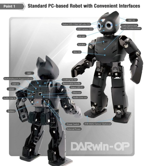 DARwIN-OP Robot – convenient interfaces