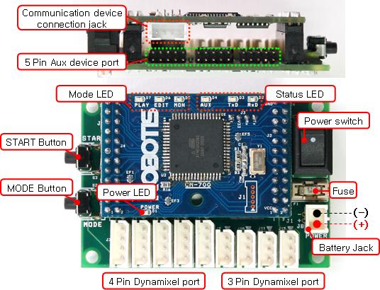 Cm 700 Main Controller For Dynamixel Actuators From Robotis