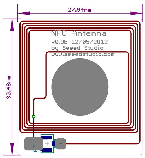 dimensions de la shield NFC V2.0