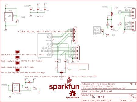 Schéma du du BLE Mate 2 - BC118 de Sparkfun
