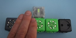 Gradient de diffusion avec des Cubelets