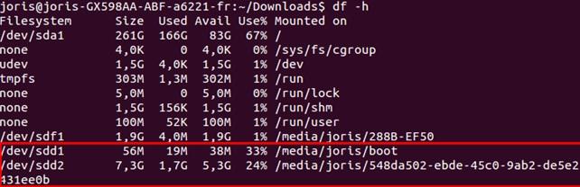 Flash de votre carte SD avec l'image Kernel d'Ubuntu sur la carte pcDuino3