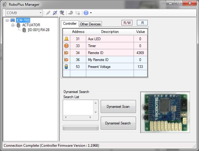 Control Dynamixel smart actuators with RoboPlus (1/2) - Génération