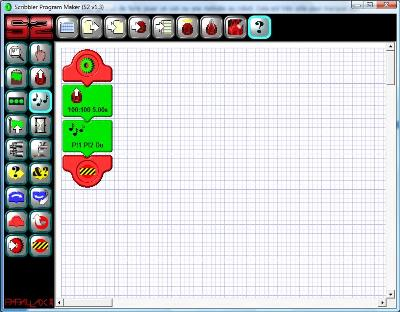 Finished program using the programming interface of the Scribbler 2 robot