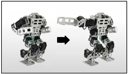 Battle moves for the Bioloid GP programmable humanoid robot