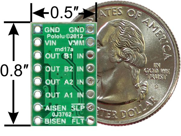drv8833 dual motor driver from pololu