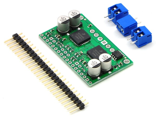 headers for the MC33926 dual motor driver from pololu