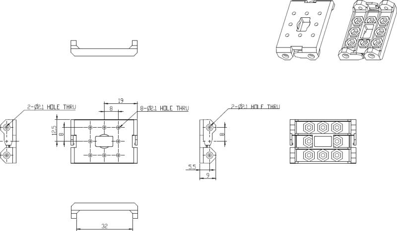 Schéma des pièces de structure FP04-F3 pour kits Bioloid équipés de servomoteurs AX