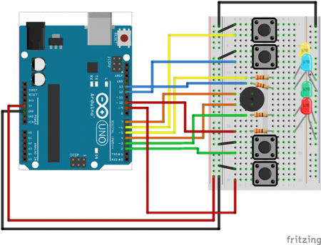 SparkFun Inventor Electronic Kit v3.2 for Arduino Uno - Experiment 16 - Simon Says