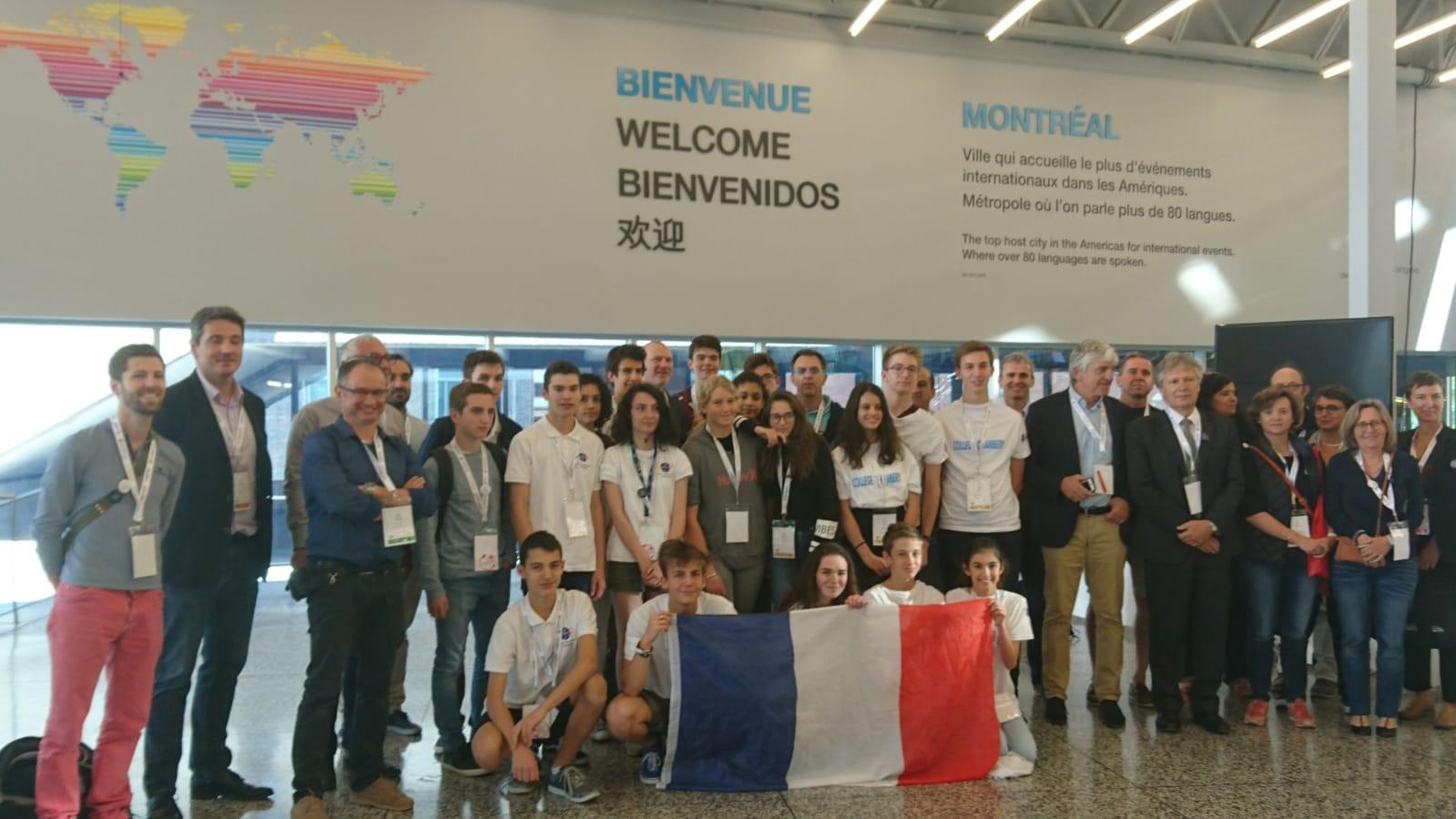 Délégation française Robocup2020 et équipes participant aux épreuves Junior
