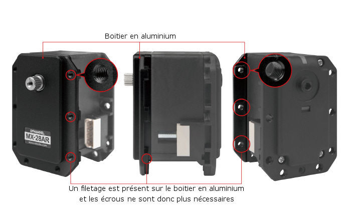 MX-28AT aluminium case