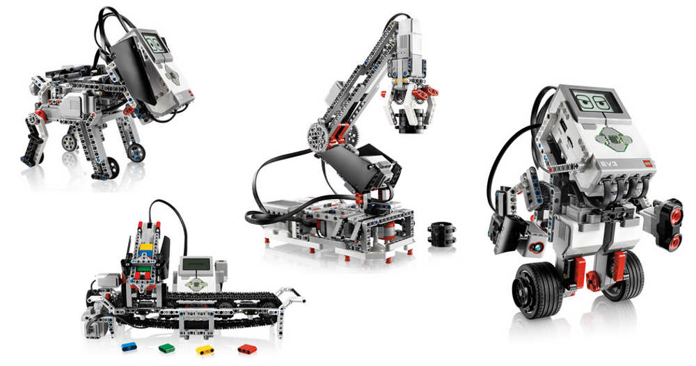 Les modèles de robots dans chaque kit EV3 sont nombreuses