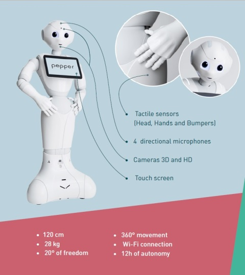 Pepper humanoid robot technical specifications