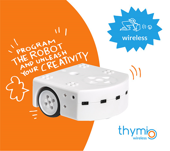 robot mobile éducatif Wireless Thymio