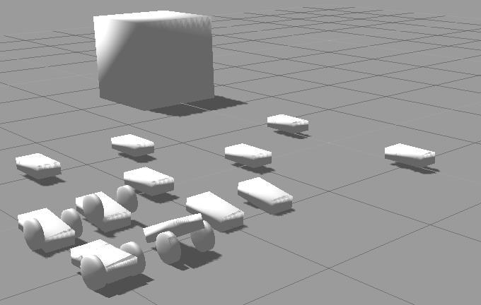 Robotic simulation scenarios with Gazebo and ROS