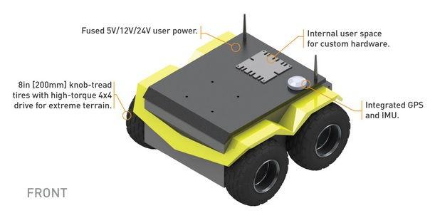 Jackal mobile robot