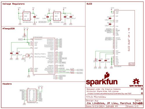 OLED-Anzeigemodul für Arduino Grundschema