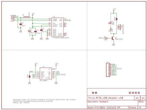 RFID USB Reader Schematic