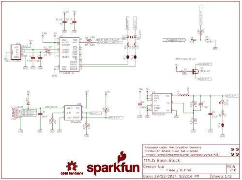 Sparkfun Base Block for Intel Edison schematics