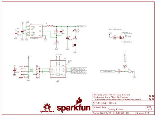 UART Block for Intel® Edison technical schematic