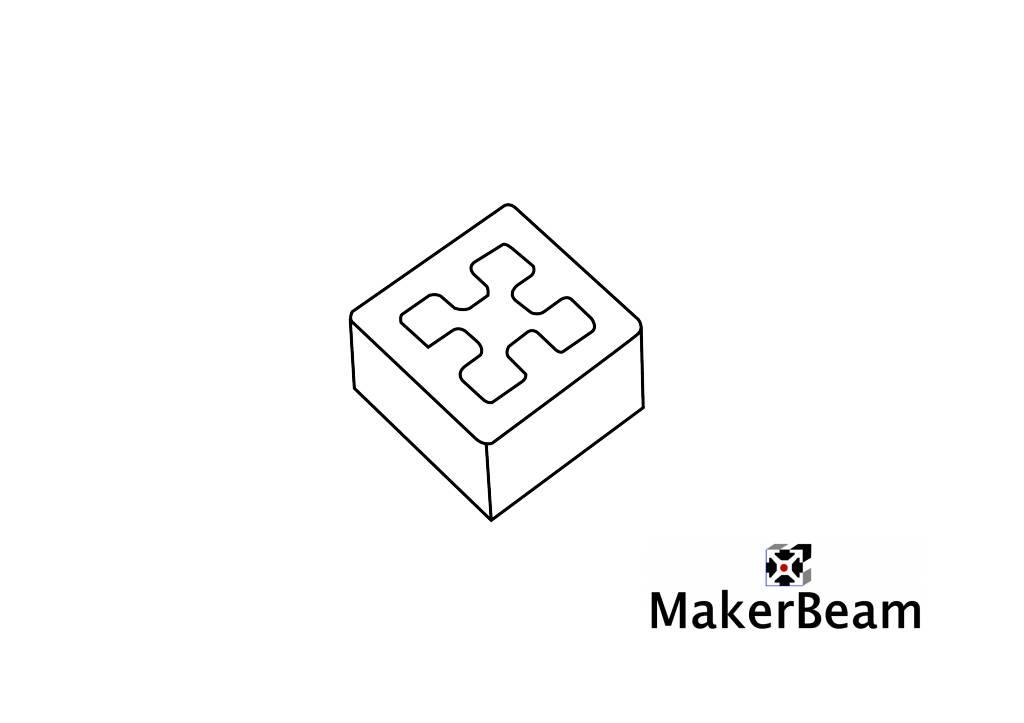 Referenzschema der 3D Druck Endkappe für MakerBeam