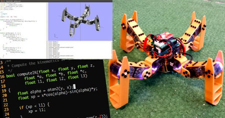Metabot, quadruped robots for the makers