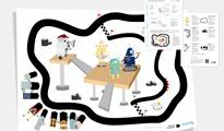 Maison d'Ailleurs-Discovery-Trail für den Roboter Thymio II (Haus von anderswo)