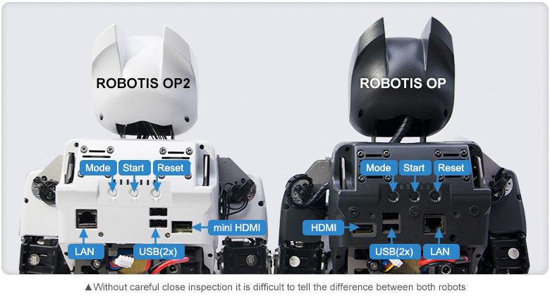 Robotis OP2 comparé au Darwin-OP
