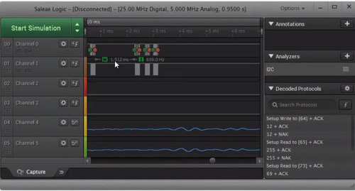 Saleae Logic Pro 16 Analyser: software
