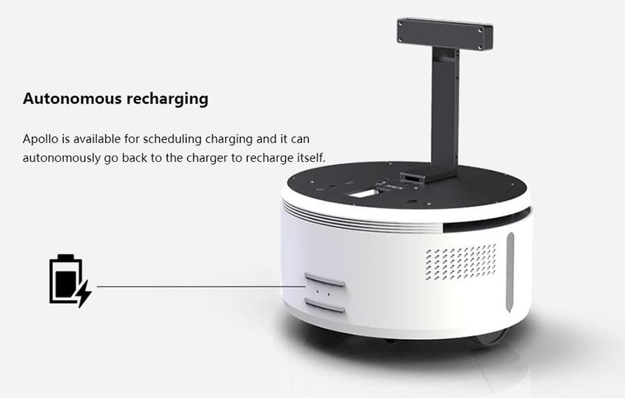 Robot Apollo : rechargement autonome