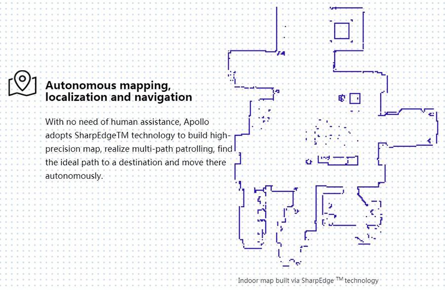 Robot Apollo : cartographie avec la technologie SharpEdge