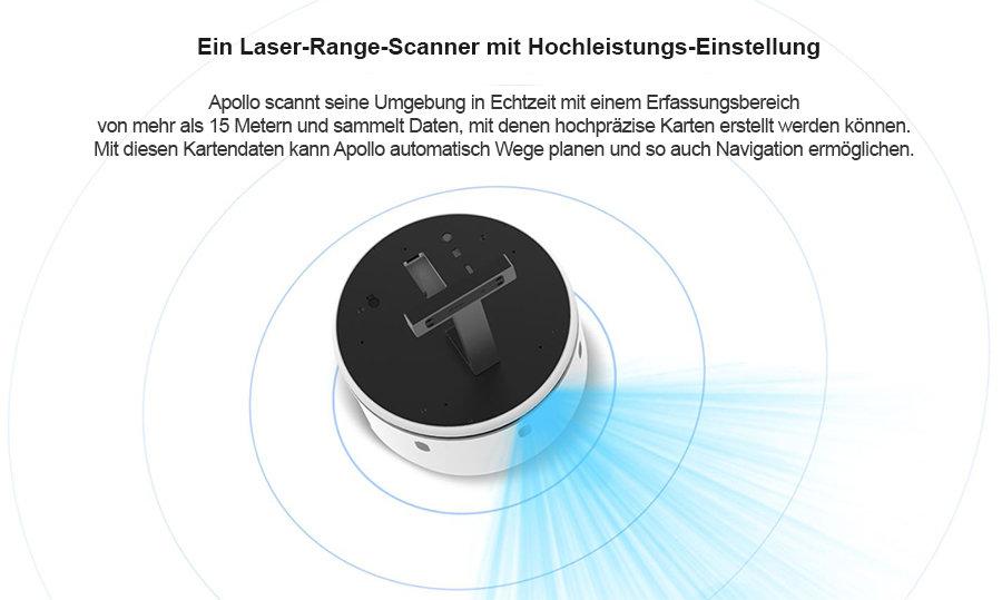 Apollo erkennt des Umfelds in Echtzeit mit dem RPlidar Laser