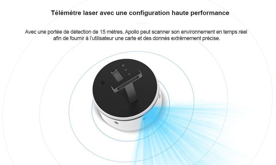 Robot Apollo : navigation autonome avec le télémètre RPlidar