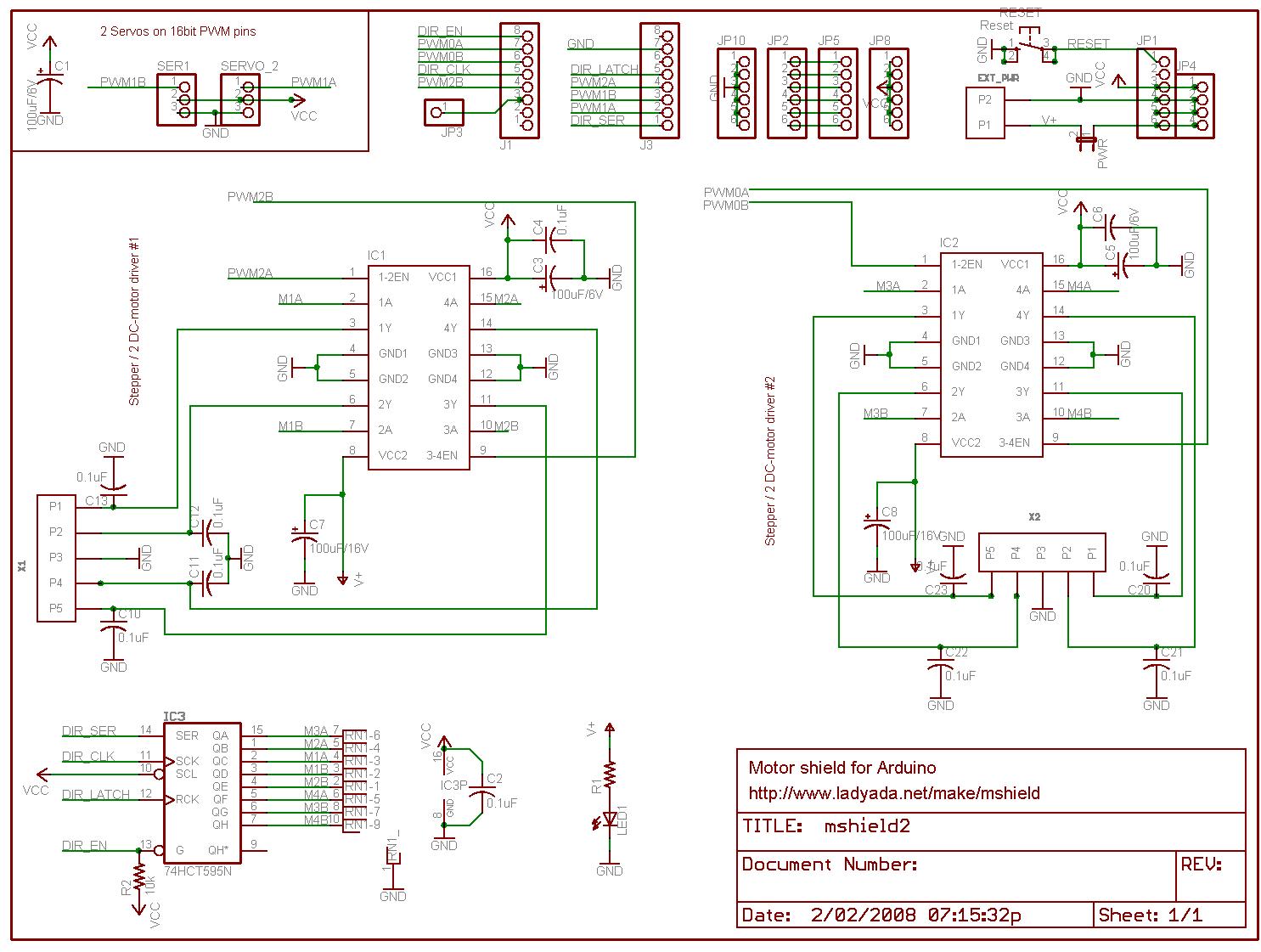 Servo- DC- und Schrittmotor Kontroller
