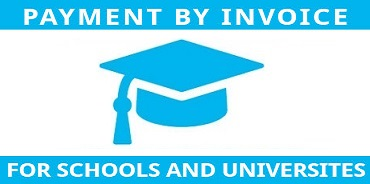 Payment by invoice, for schools and universites